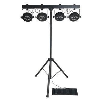 Showtec Compact Power Lightset MKII incl Bag Footswitch and Stand | Lighting | Parcans Pinspots & Theatre Spots | Lighting Packages | Showtec | Lighthouse Audiovisual UK